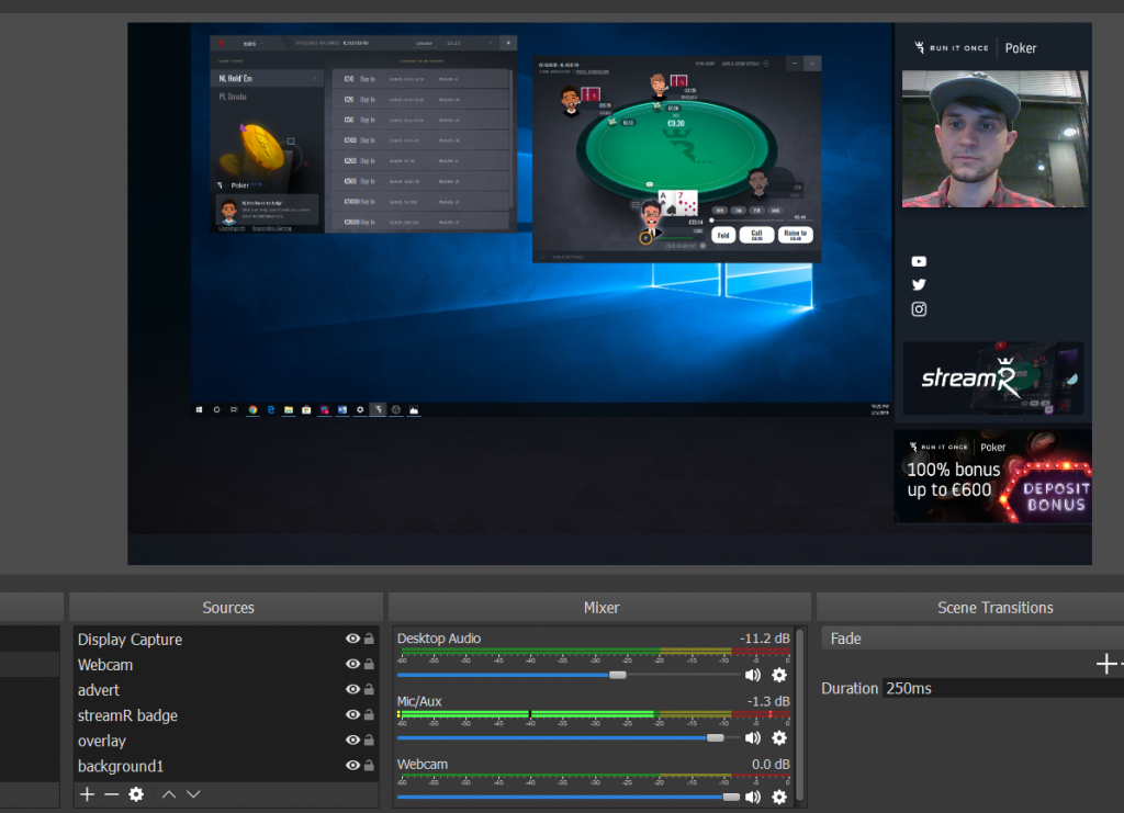 3: Creating your stream layout - Run It Once Poker - Help